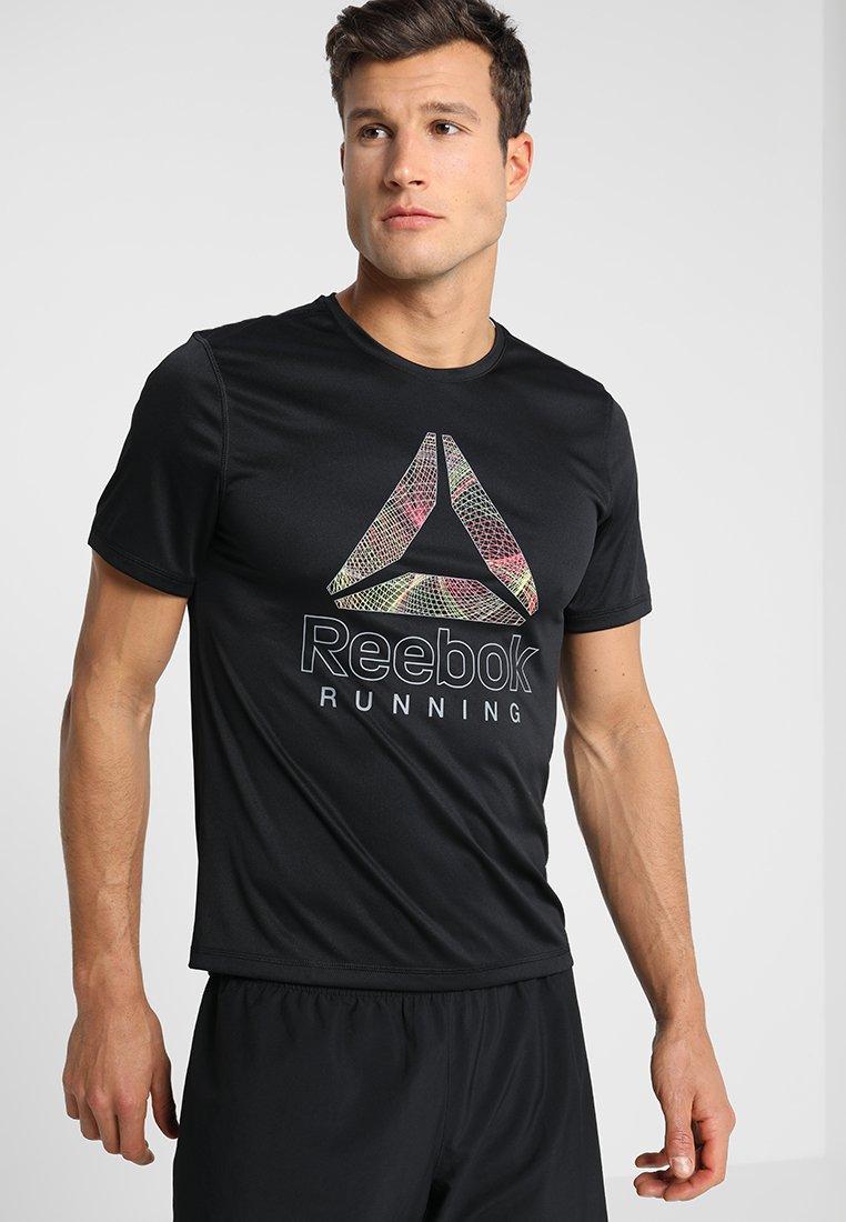 Reebok - GRAPHIC TEE - T-Shirt print - black