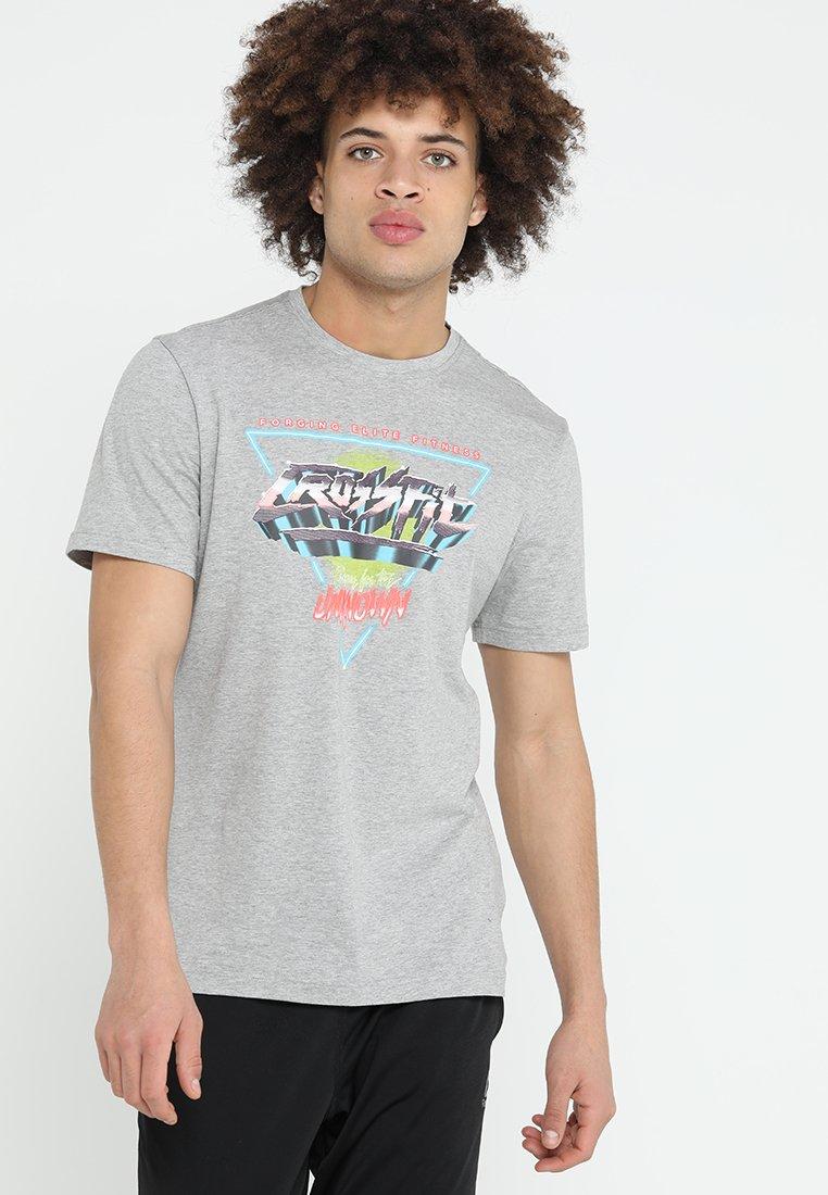 Reebok - NEON RETRO TEE - T-Shirt print - medium grey heather