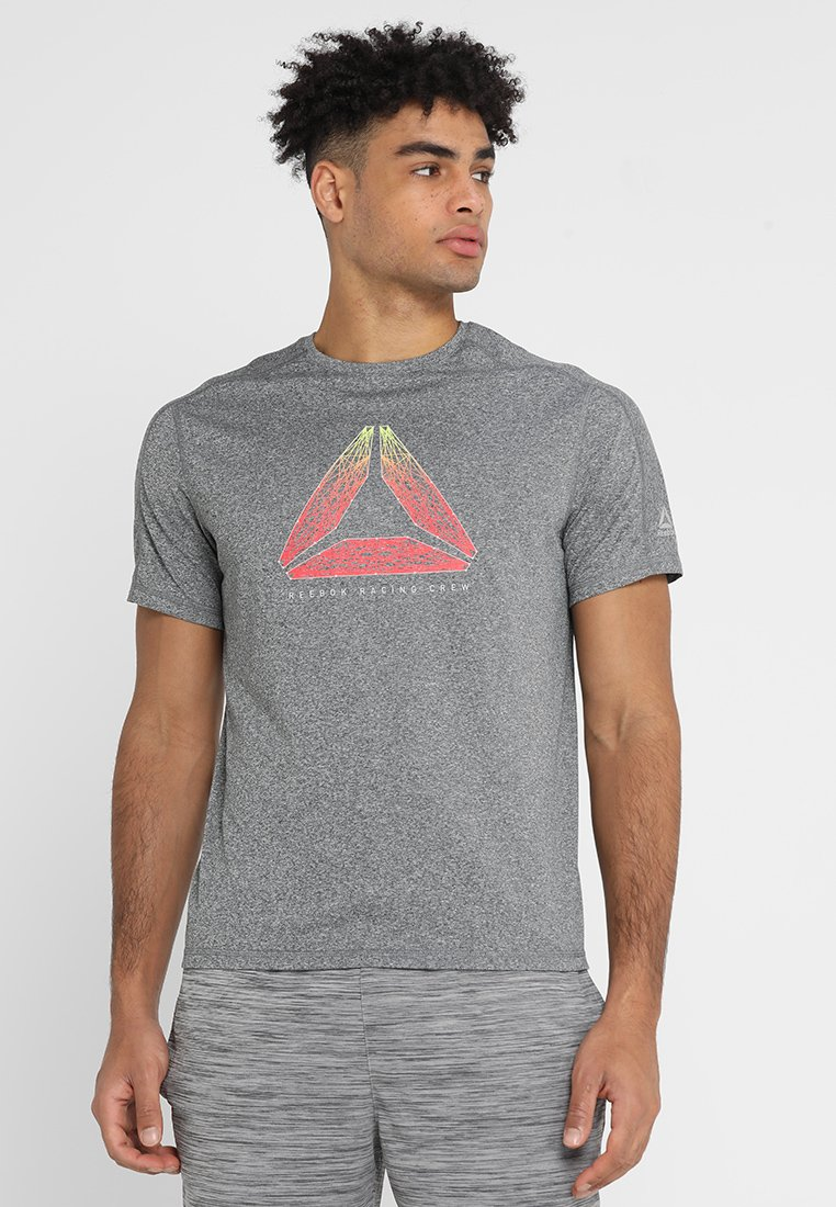 Reebok - REFLECT MOVE TEE - T-shirt z nadrukiem - mottled grey