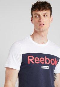 Reebok - TRAINING ESSENTIALS LINEAR LOGO - Koszulka sportowa - white - 4