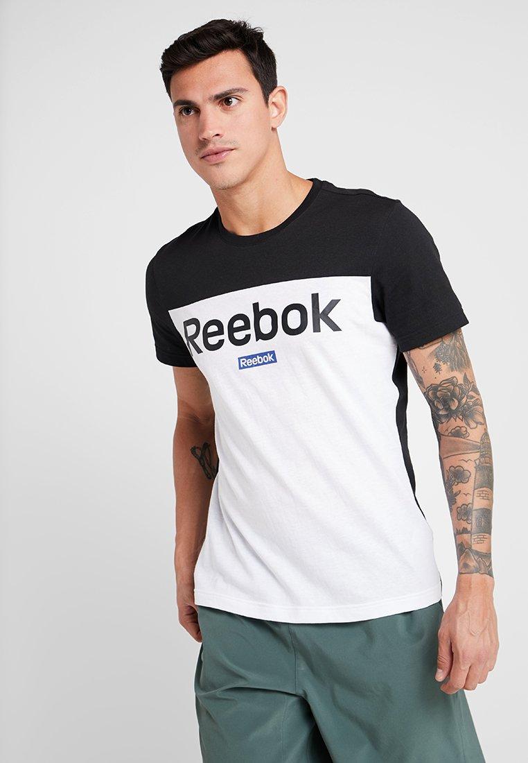 Reebok - TRAINING ESSENTIALS LINEAR LOGO - Sports shirt - black