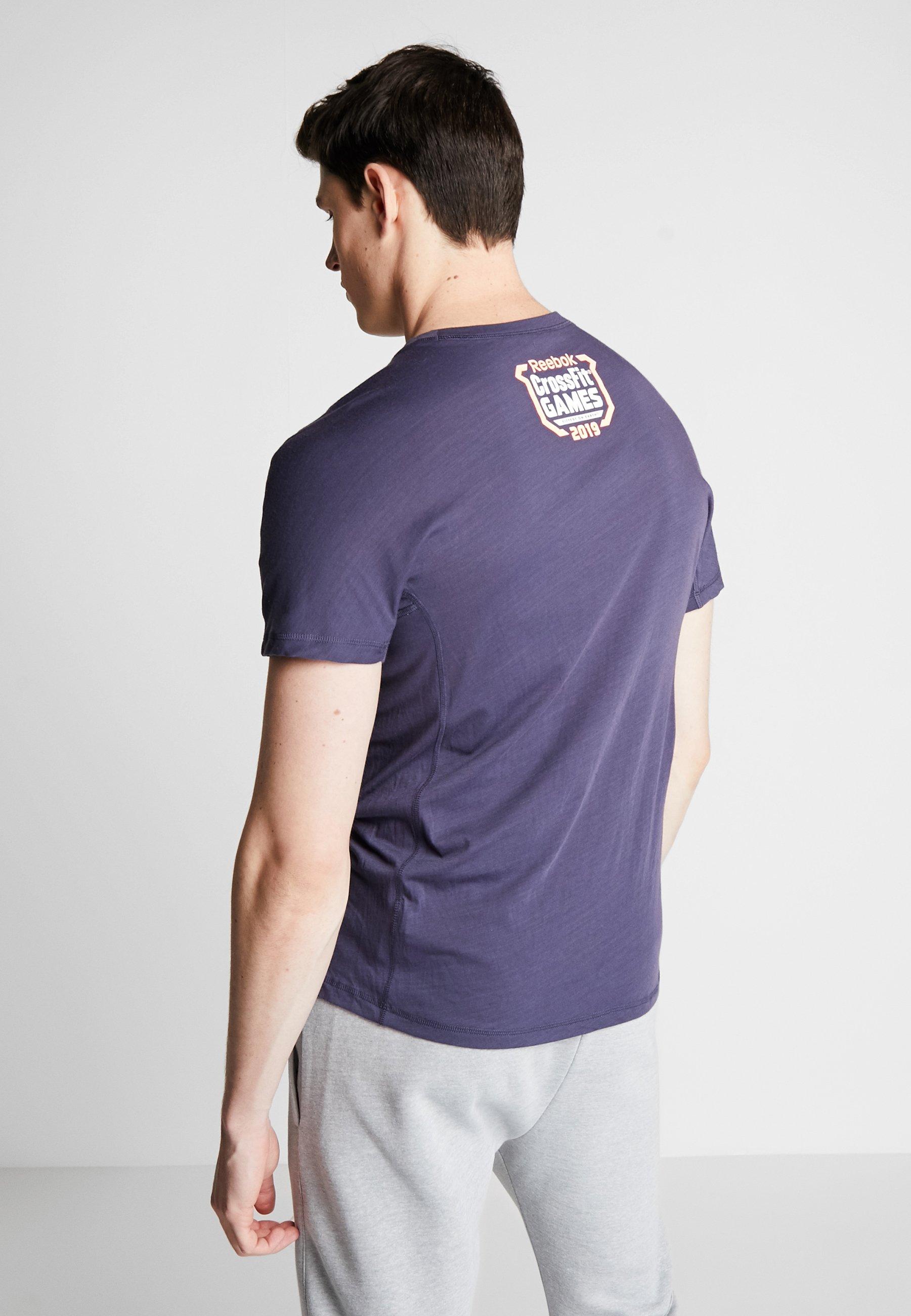 Reebok TEE  - T-shirt z nadrukiem - dark blue