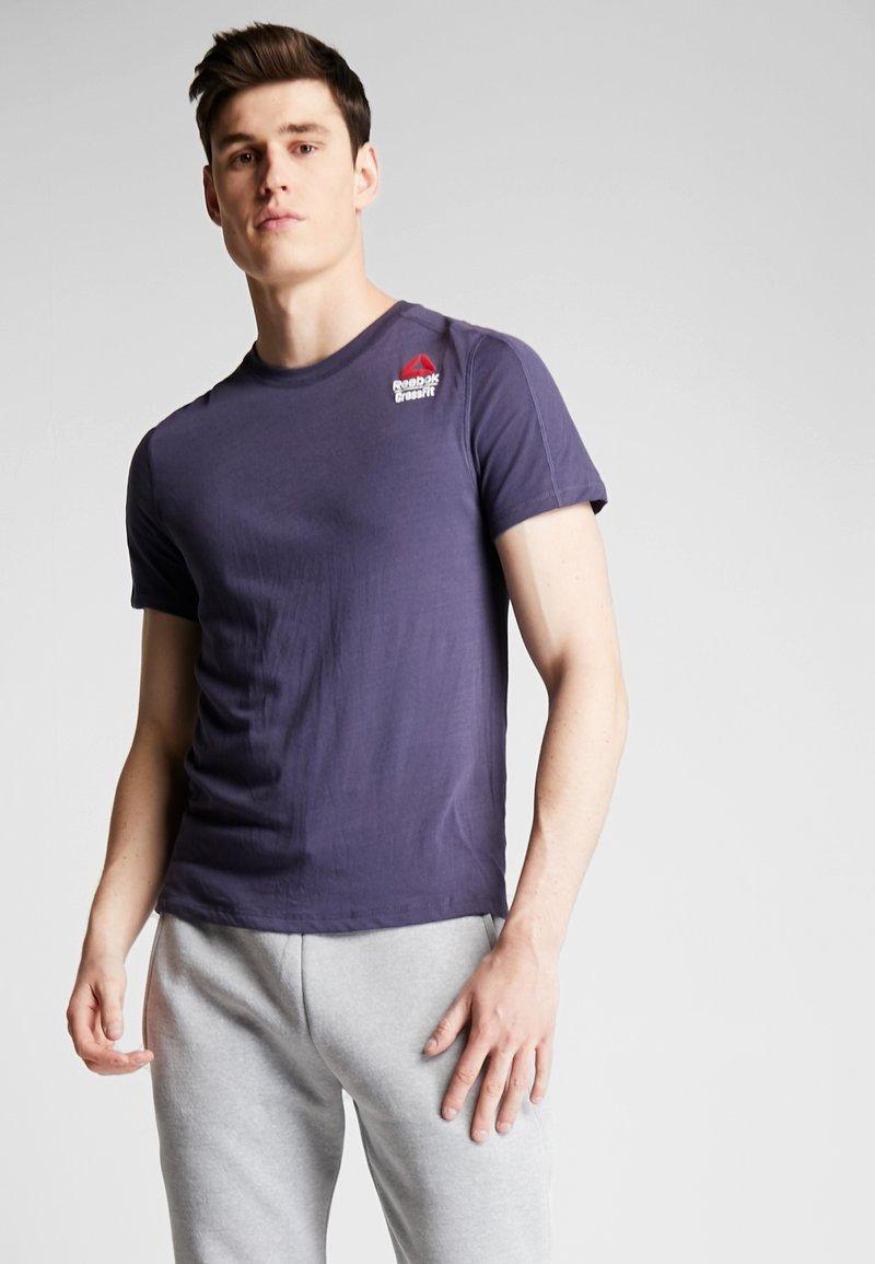 Reebok - TEE  - T-shirt imprimé - dark blue
