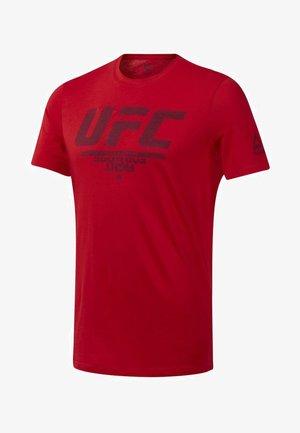 UFC FAN GEAR LOGO TEE - T-shirt z nadrukiem - red