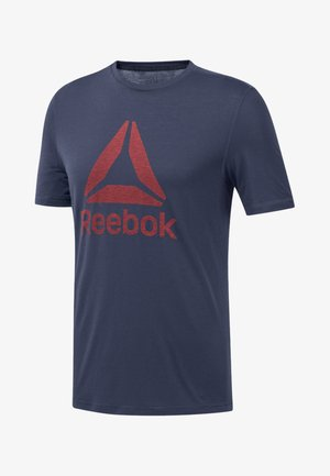 WORKOUT READY SUPREMIUM TEE - T-shirt con stampa - heritage navy