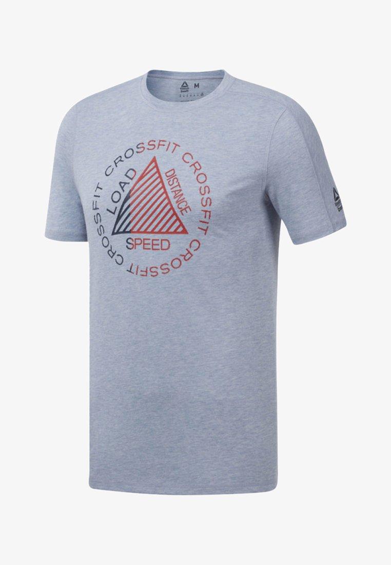 Reebok - T-shirt z nadrukiem - denim dust mel