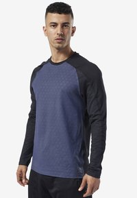 Reebok - ONE SERIES TRAINING SMARTVENT TOP - T-shirt à manches longues - heritage navy - 0