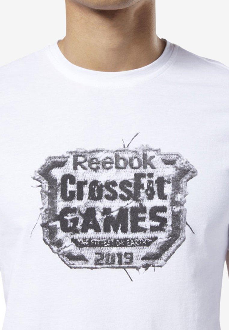 shirt White Reebok Imprimé Distressed Crest TeeT USzGqMpLV