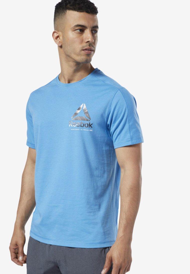 Reebok - ONE SERIES TRAINING SPEEDWICK TEE - T-Shirt print - blue