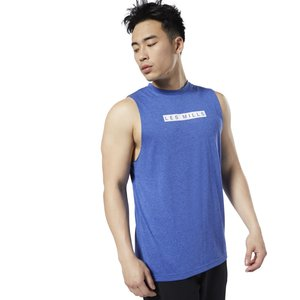 LES MILLS® MUSCLE TANK TOP - Top - blue