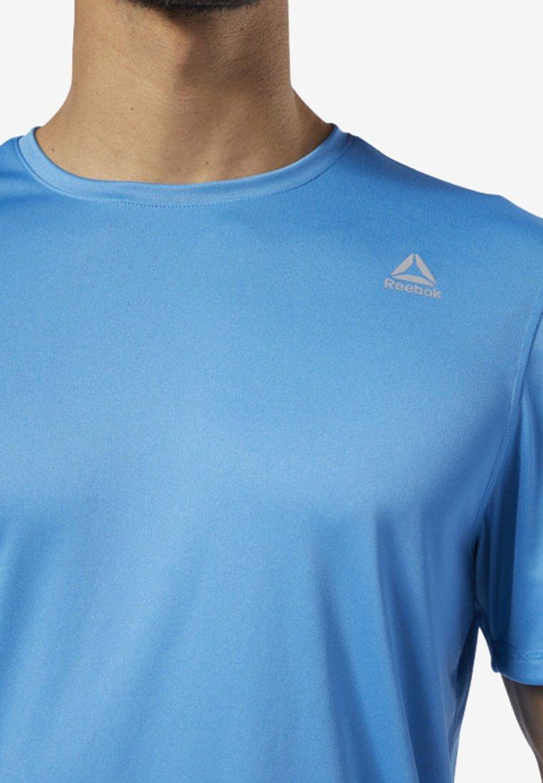 Run TeeT Reebok Essentials Blue shirt Basique VpSzMqU