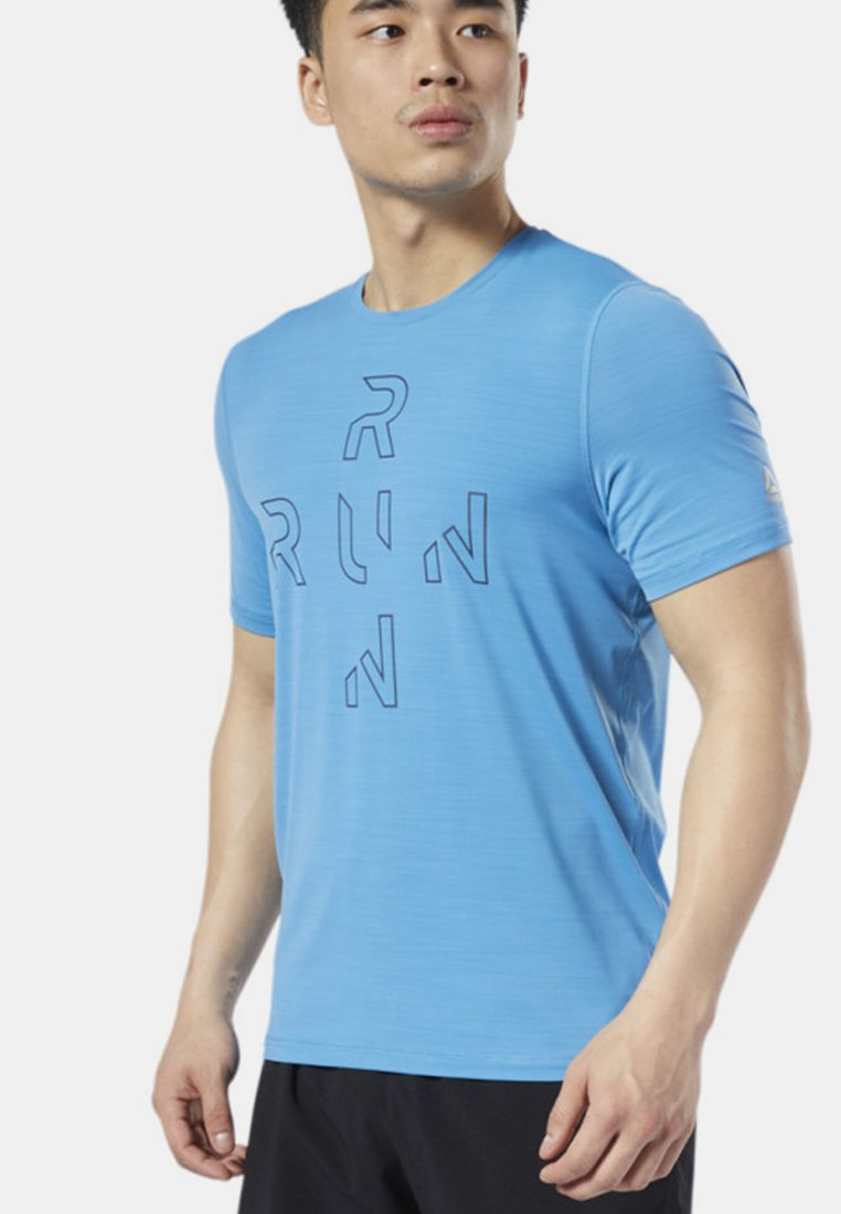 Reebok - ONE SERIES RUNNING ACTIVCHILL TEE - T-shirt med print - blue