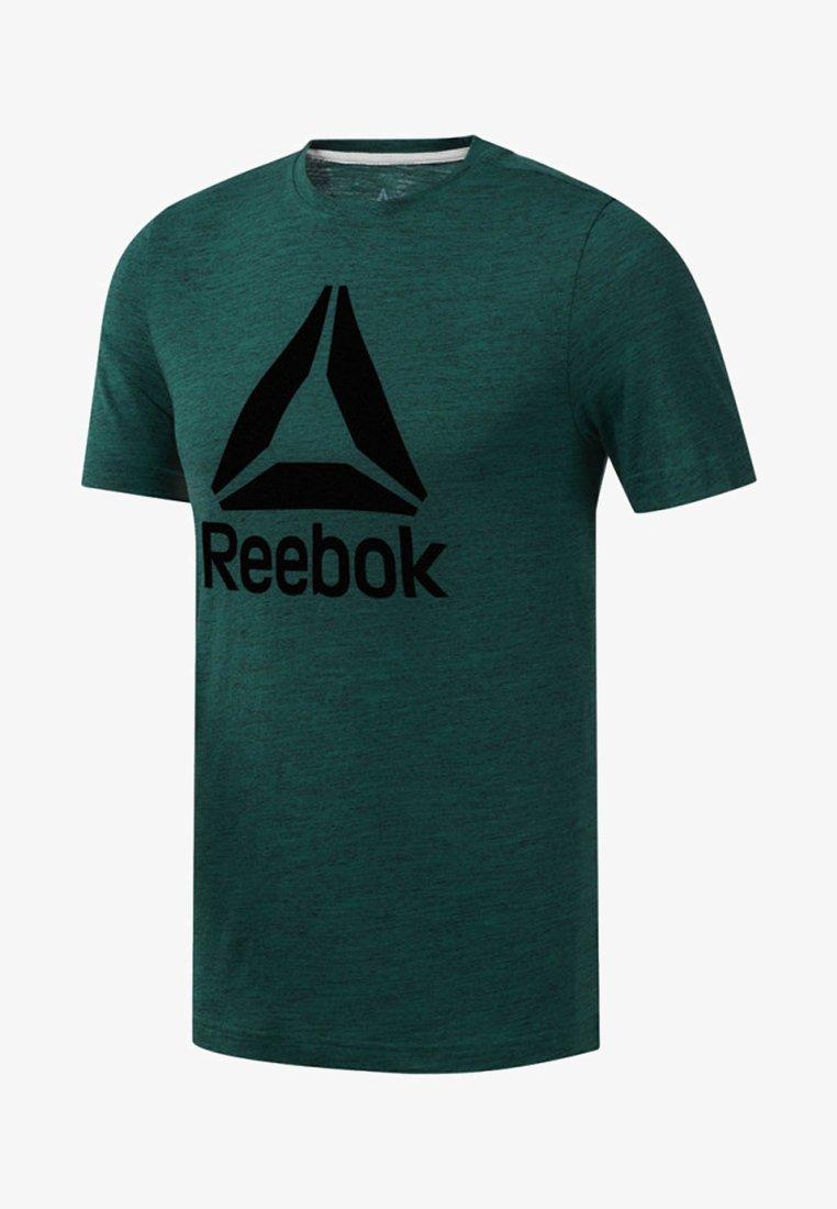 Reebok - TRAINING ESSENTIALS MARBLE MELANGE TEE - T-Shirt print - clover green