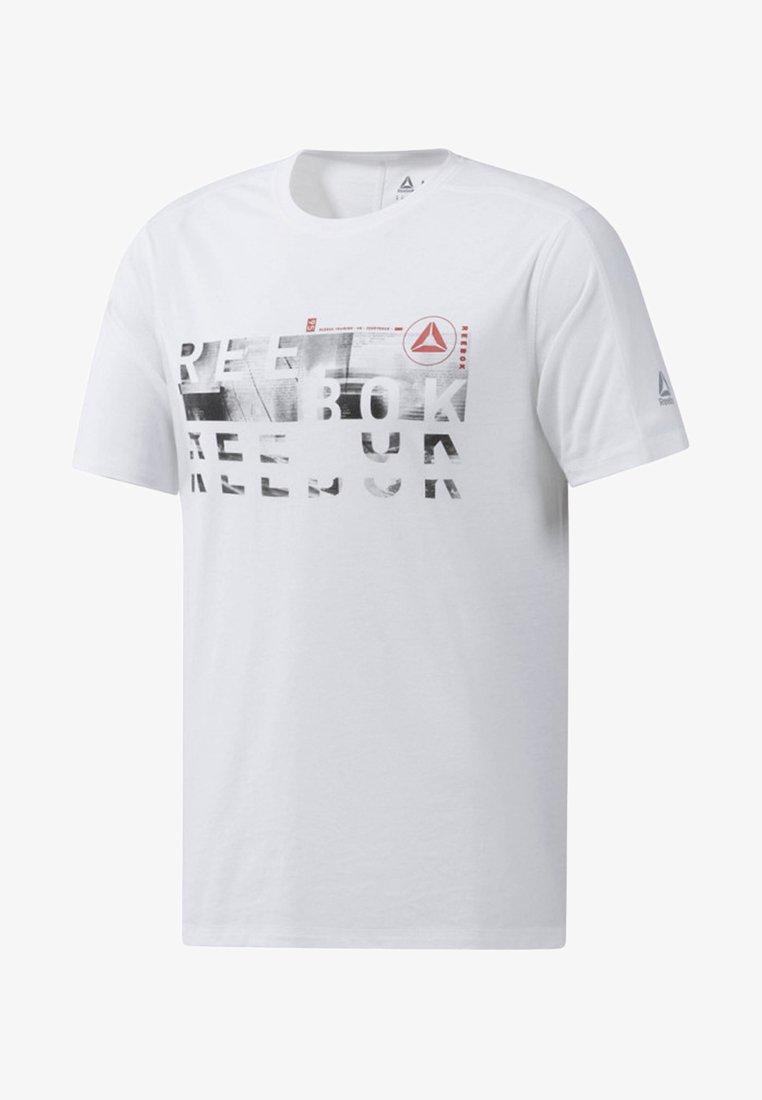 Reebok - ONE SERIES TRAINING SPEEDWICK TEE - Print T-shirt - white