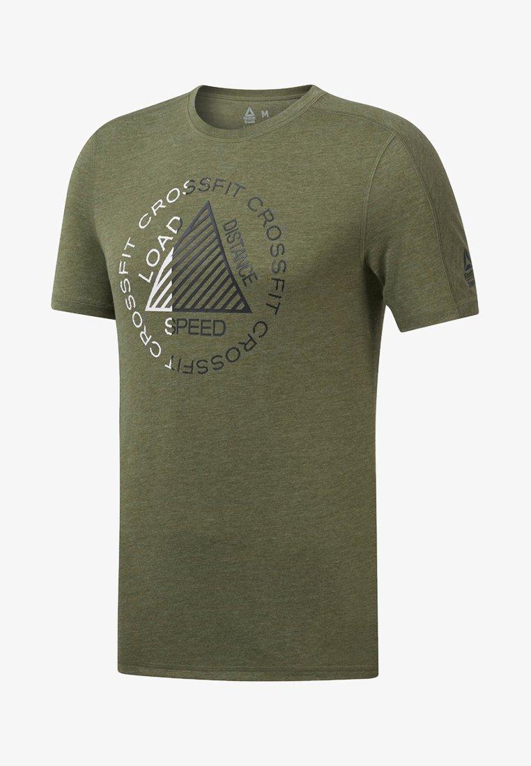Reebok - T-shirt imprimé - canopy green melange