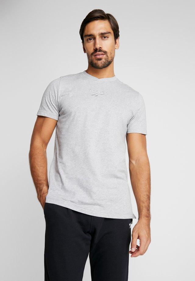 TEE - Basic T-shirt - medium grey heather