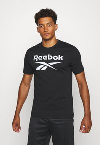 Reebok - STACKED TEE - T-shirt print - black - 0