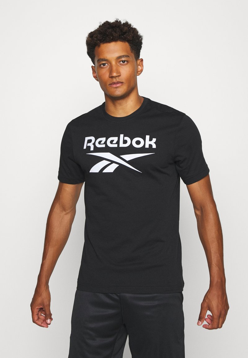 Reebok - STACKED TEE - T-shirt print - black