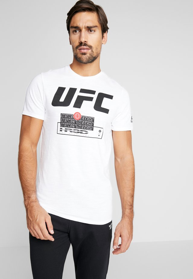 UFC MIXED MARTIAL ARTS SHORT SLEEVE TEE - Triko s potiskem - white