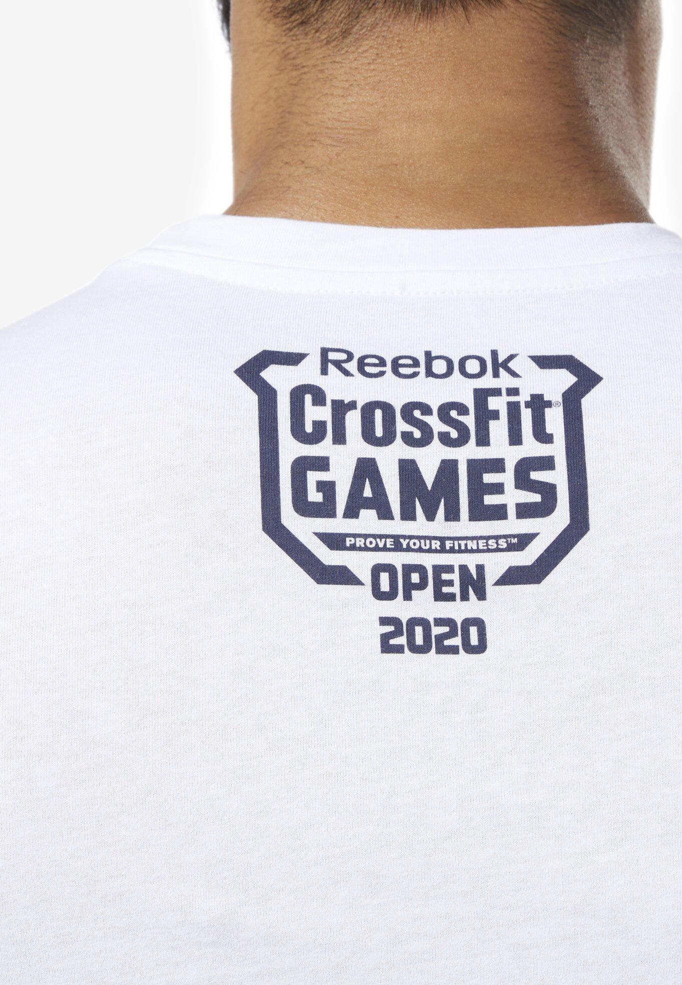 Reebok REEBOK OPEN TEE - T-shirt z nadrukiem - white