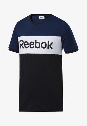 TRAINING ESSENTIALS LINEAR LOGO TEE - Print T-shirt - blue