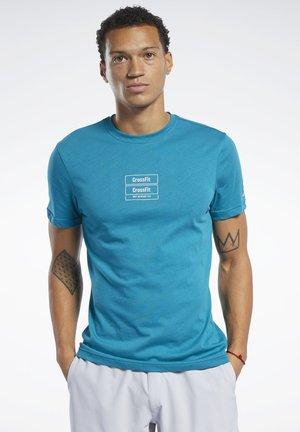 REEBOK  MESS YOU UP TEE - T-Shirt print - seaport teal
