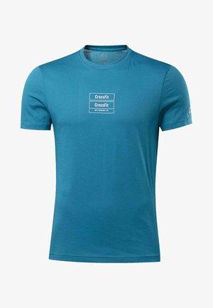 REEBOK  MESS YOU UP TEE - T-shirts print - seaport teal