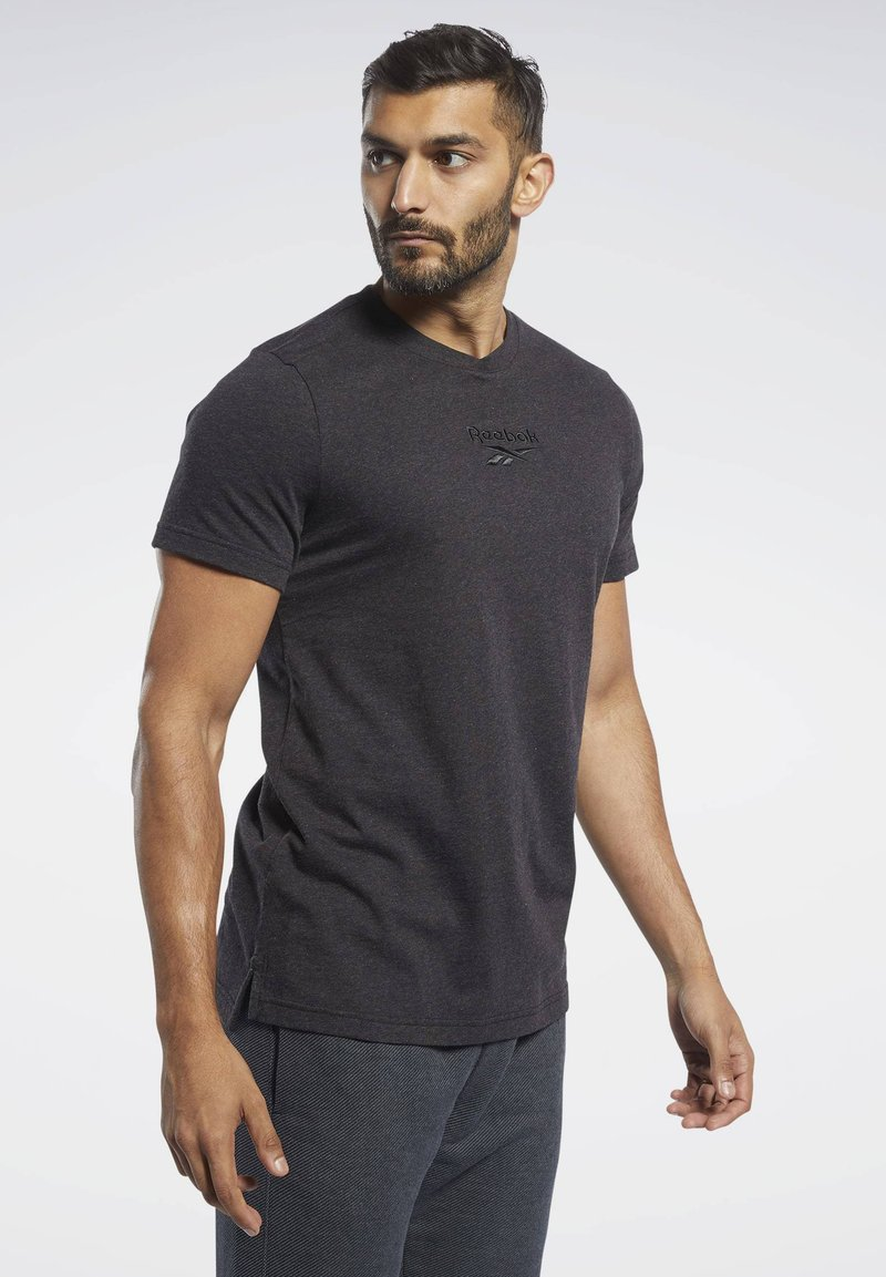 Reebok - TRAINING ESSENTIALS TEE - T-shirt basic - black