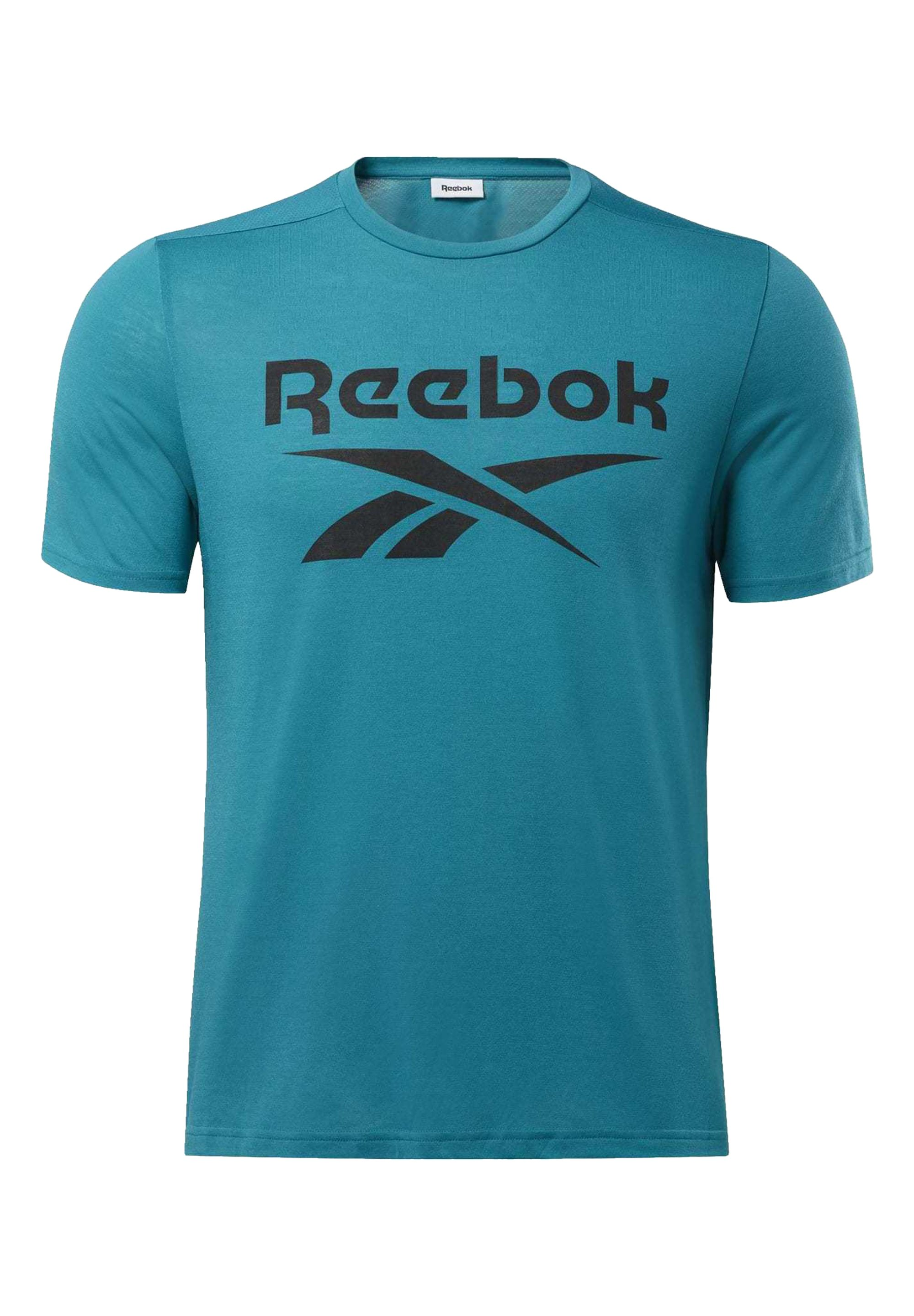 Reebok WORKOUT READY SUPREMIUM GRAPHIC TEE - T-shirt imprimé - seaport teal