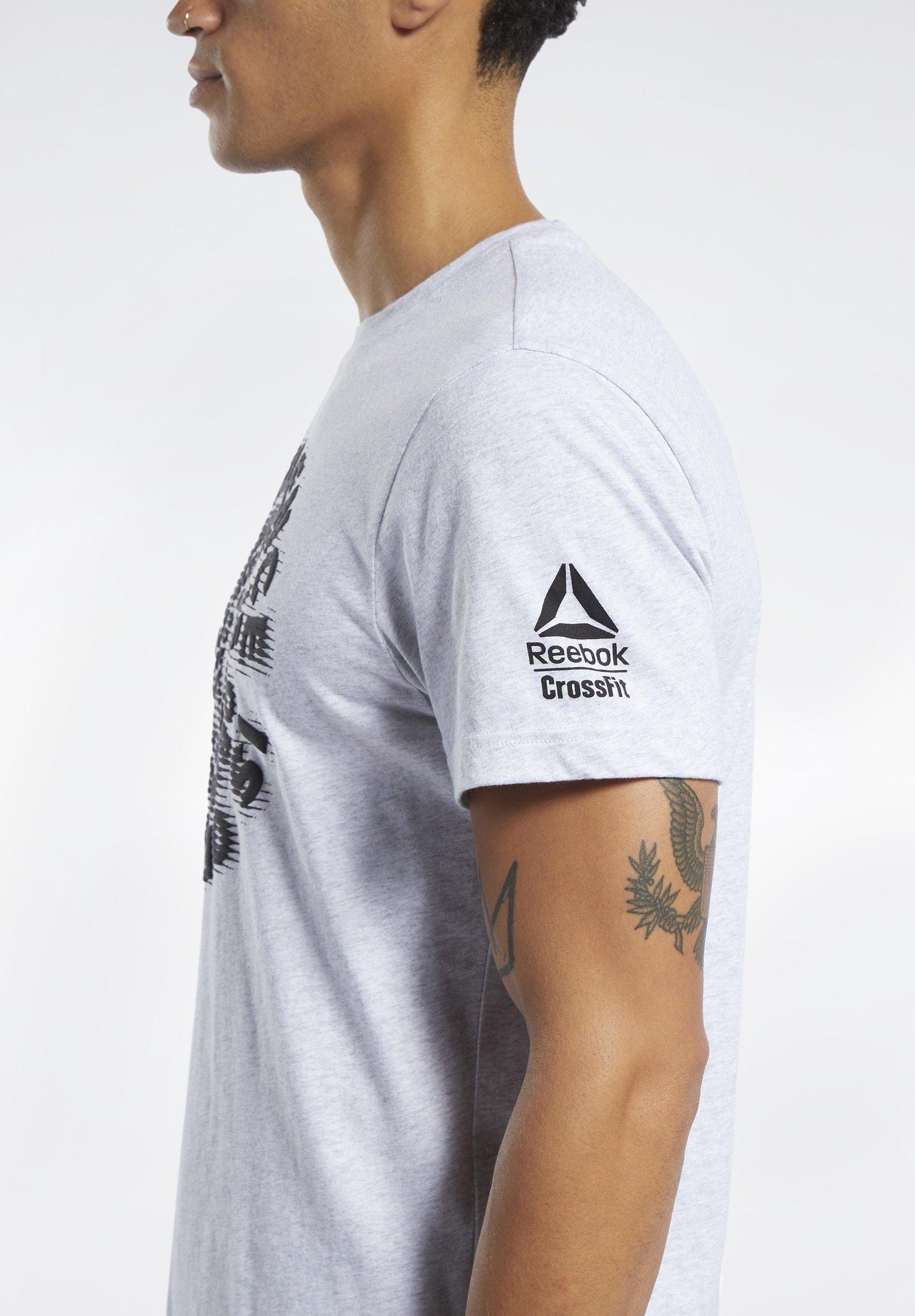 Reebok REEBOK CROSSFITEXCELLENCE TEE - T-shirt imprimé - grey