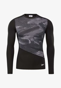 Reebok - GRAPHIC COMPRESSION TEE - Long sleeved top - black - 6