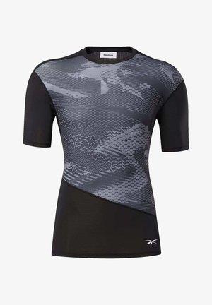 COMPRESSION TEE - Print T-shirt - black