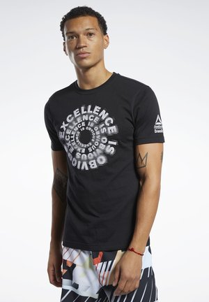 REEBOK CROSSFITEXCELLENCE TEE - T-shirt print - black
