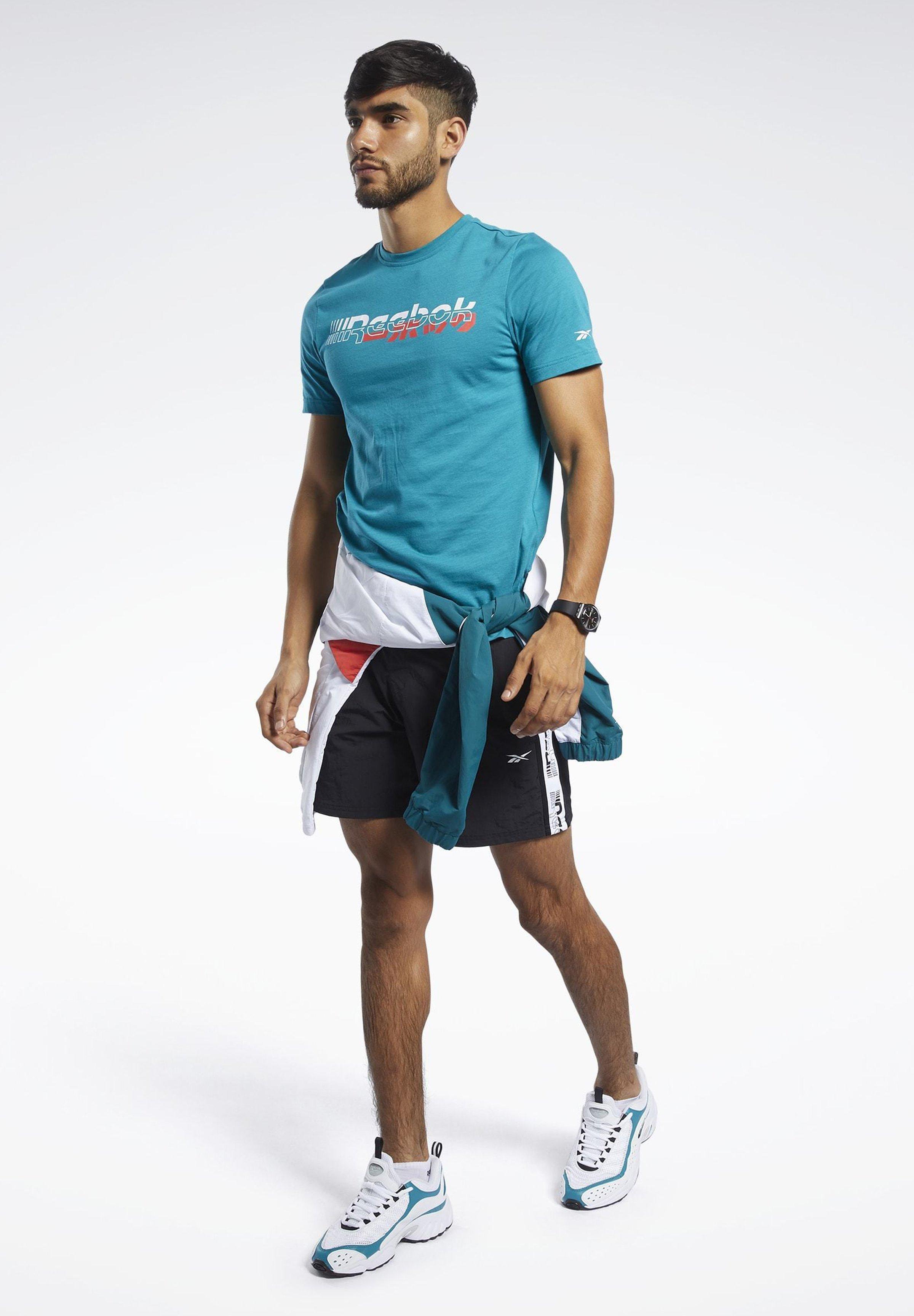 Reebok Meet You There Tee - T-shirt Imprimé Seaport Teal