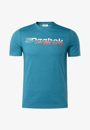 MEET YOU THERE TEE - T-shirt imprimé - seaport teal