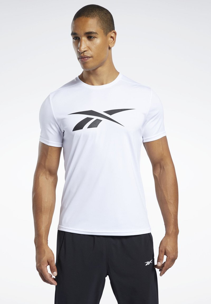 Reebok - WORKOUT READY TEE - Print T-shirt - white