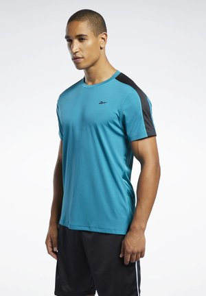 WORKOUT READY TECH TEE - T-shirts med print - seaport teal