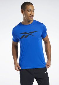 Reebok - WORKOUT READY TEE - T-shirt imprimé - humble blue - 0
