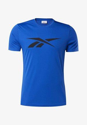 WORKOUT READY TEE - T-shirt imprimé - humble blue