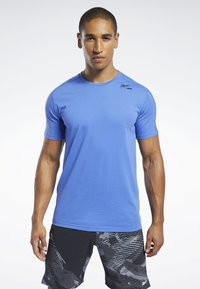 Reebok - SPEEDWICK MOVE TEE - Print T-shirt - blue - 0