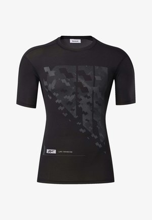 COMPRESSION TEE - T-shirt med print - black