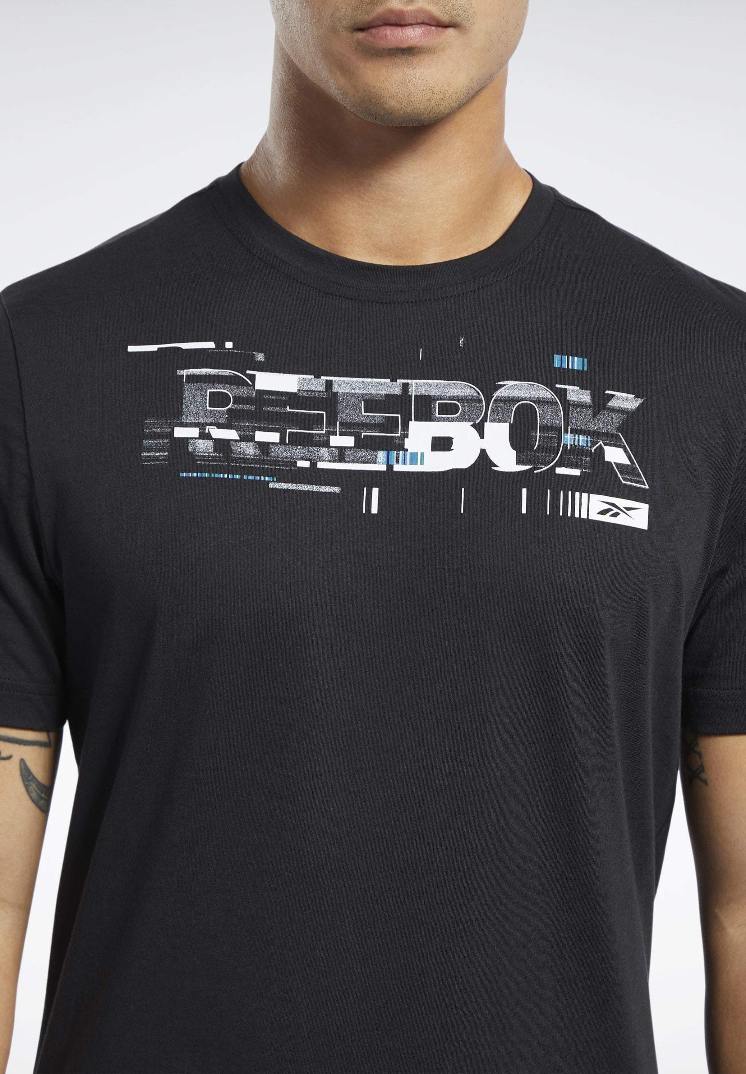 Reebok T-shirt z nadrukiem - black