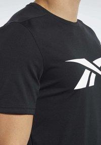 Reebok - WORKOUT READY TEE - T-Shirt print - black - 5