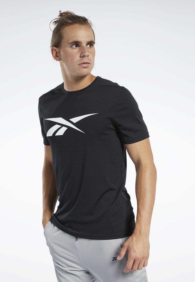 Reebok - WORKOUT READY TEE - T-Shirt print - black