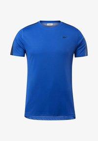 Reebok - WORKOUT READY TECH TEE - Print T-shirt - blue - 5