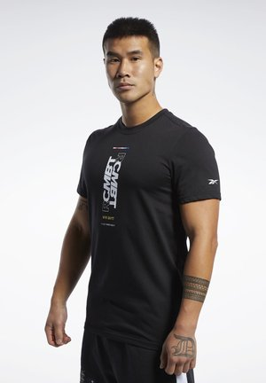 COMBAT WORDMARK TEE - Print T-shirt - black