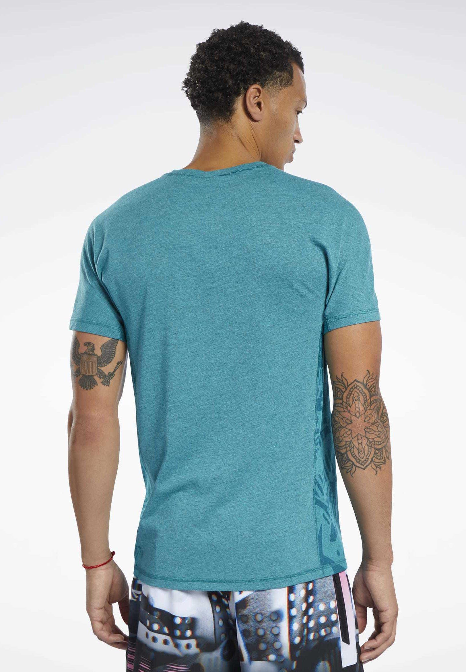 Reebok REEBOK MOVE TEE - T-shirt imprimé - teal