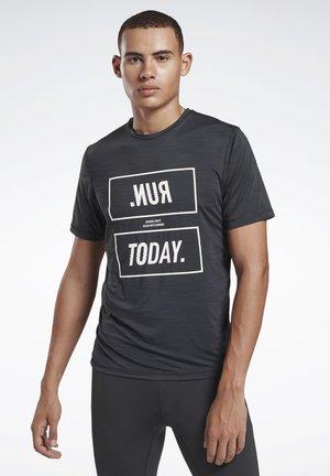 ONE SERIES RUNNING ACTIVCHILL TEE - Print T-shirt - black