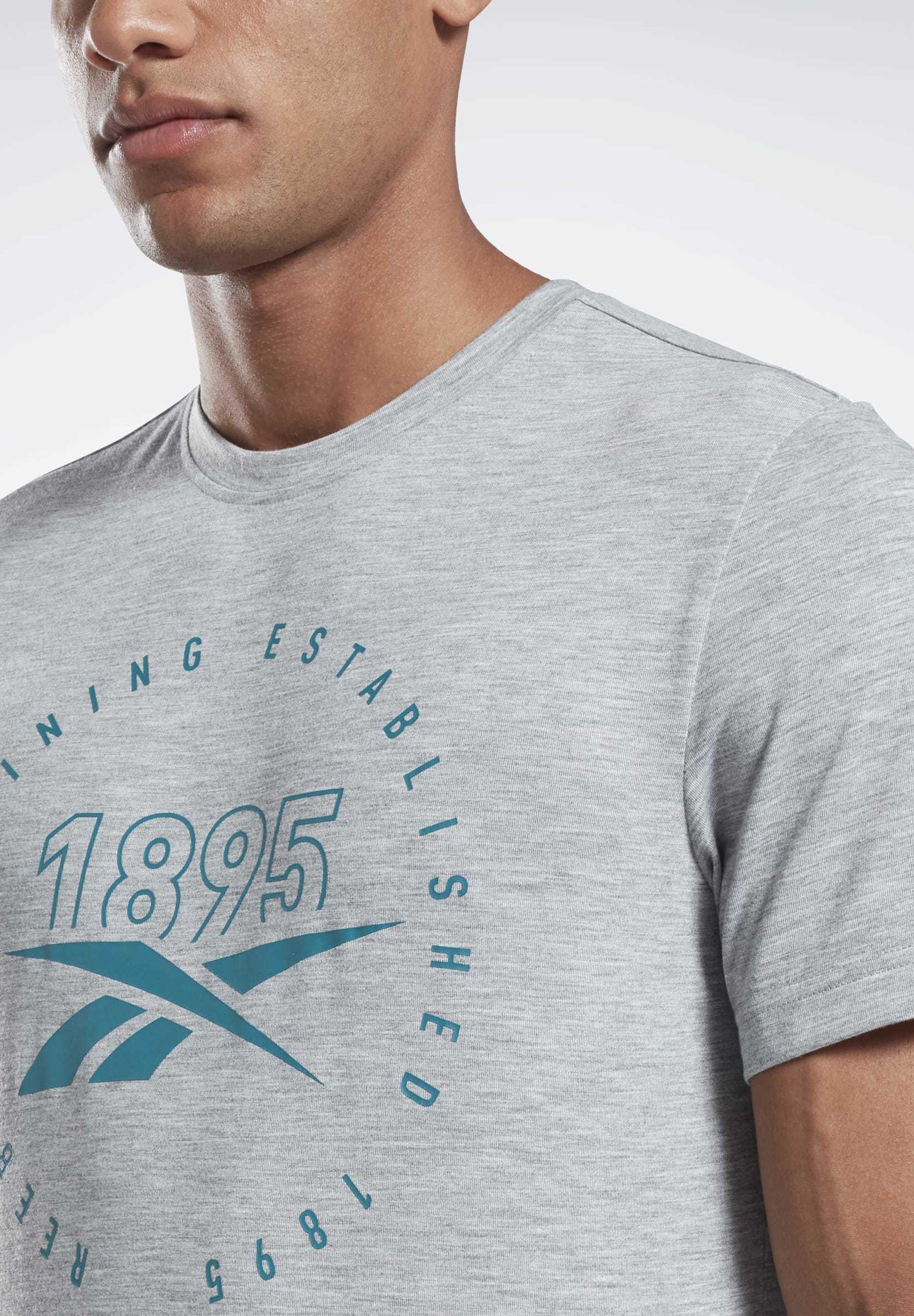 Reebok GRAPHIC SERIES SPEEDWICK TEE - T-shirt imprimé - gray