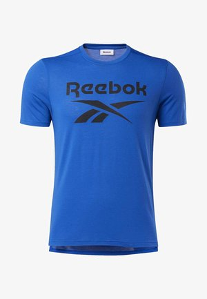 WORKOUT READY SUPREMIUM GRAPHIC TEE - Print T-shirt - humble blue